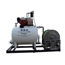 757.00 litre - 378.50 litre Skid Mounted Dual Compartment Vacuum Pump